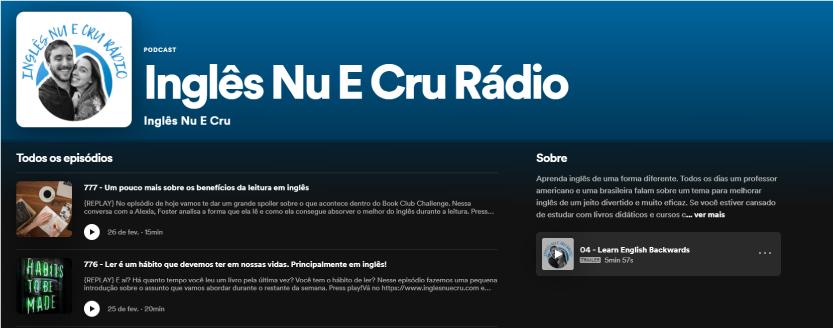 Inglês Nu e Cru Rádio - Recomendação de Podcast TheCamp