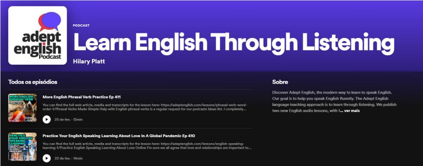 Learn English Through Listening - Recomendação de Podcast TheCamp