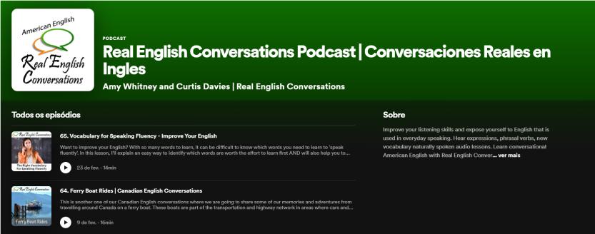 Real English Conversations Podcast - Recomendação de Podcast TheCamp