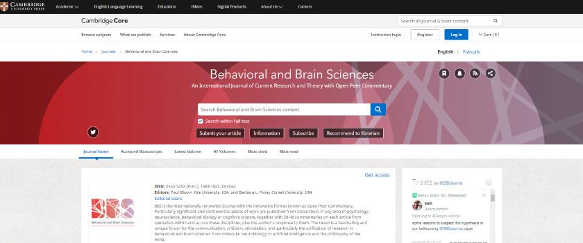 Behavioral Brain Science Archive - Dicas para leitura de artigos TheCamp